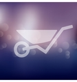 wheelbarrow icon on blurred background vector image