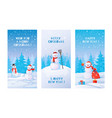 winter posters snowman with snowdrifts winter vector image vector image