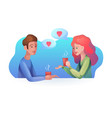 women and men with a cup of vector image vector image