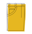 yellow watercolor silhouette of male pants folded vector image vector image