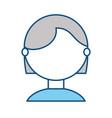 young woman faceless cartoon vector image vector image
