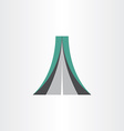 highway icon abstract design element vector image