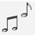 a black notes isolated on white vector image vector image