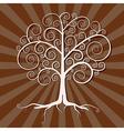 Abstract Tree on Brown Retro Background vector image vector image
