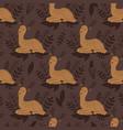 baby deer seamless pattern cute deer vector image vector image