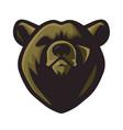 bear logo mascot design vector image vector image