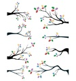 Branches with cute and colorful leaves vector image vector image