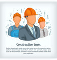 building team concept cartoon style vector image