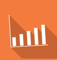 business graph with long shadow vector image vector image