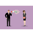 Businessman flirt with a woman at work vector image vector image