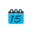 calendar icon colored symbol premium quality vector image