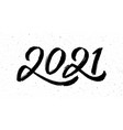 calligraphy for 2021 new year ox vector image vector image
