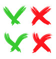 check mark tick icon shape brush vector image
