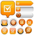 Checkmark high-detailed web button collection vector | Price: 1 Credit (USD $1)
