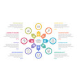 circle infographics - eight elements vector image vector image