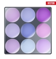 Colourful of Make Up Palette vector image