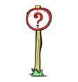 comic cartoon question mark sign vector image vector image