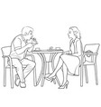 couple drinking coffee vector image