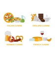 cuisine lunch gourmet traditional food flat vector image