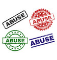 damaged textured abuse seal stamps vector image vector image