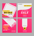 editable instagram fashion banner ad template vector image vector image