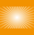 empty template for design rays orange sun whole vector image