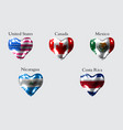 flags of america countries the flags of united vector image vector image