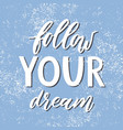 follow your dream handdrawn vector image vector image