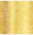 Golden Abstract Swirls Seamless Pattern vector image vector image