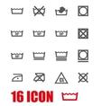 grey washing signs set vector image vector image