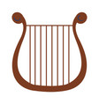 harp musical instrument icon vector image vector image