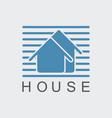 home logo vector image