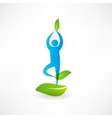 Man yoga tree icon vector image vector image