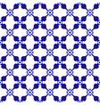 modern pattern indigo vector image vector image