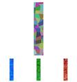 Mosaic font design - letter I vector image vector image