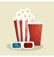 pop corn with soda vector image vector image