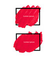 red brush stroke frame vector image vector image