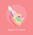 region france map with marks best winery vector image