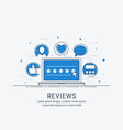 reviews and rating vector image