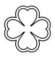 saint patrick clover icon vector image