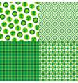 saint patricks day plaids and patterns vector image vector image