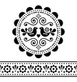 scandinavian folk design pattern set vector image
