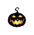 scary and evil pumpkin jack o lantern with orange vector image vector image