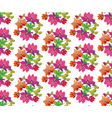 seamless pattern of fairytale pink flowers vector image