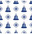 ship helm seamless pattern marine boat wheel vector image vector image