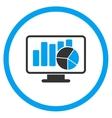 Statistics Flat Icon vector image vector image