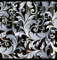 striped baroque seamless pattern wallpaper vector image vector image