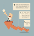 Success graph infographic vector image