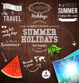 Summer design Poster for summer holidays Wooden vector image vector image
