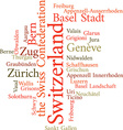 Swiss Cantons vector image